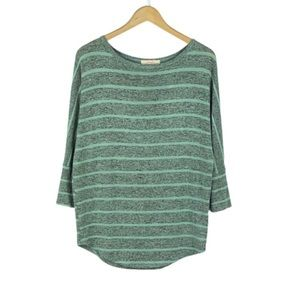 POMELO | Mint & Gray Corinna Striped Dolman Top